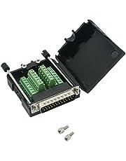 DB25 - Adaptador de puerto conector de 25 pines para módulo de señal, conector macho o hembra, sin soldadura. Pernos largos y tuercas con caja Conector macho