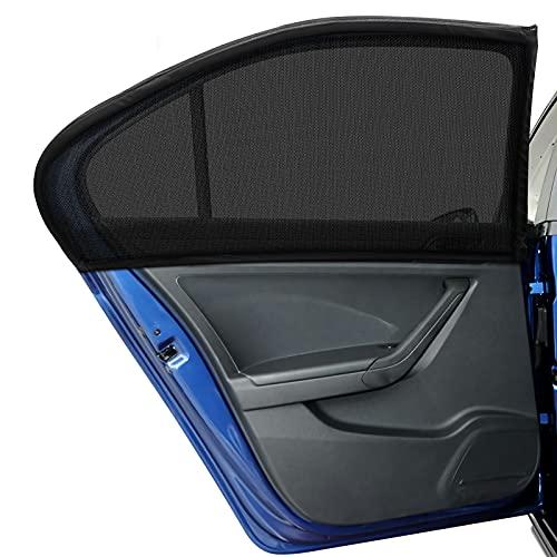 DIZA100 Auto Sonnenschutz für Großer Wagen SUV MPV Kinder Baby Erwachsene Haustiere, 2 Stück Universal Sonnenblende Auto Netz mit UV Schutz/Blendschutz, Autofenster Sonnenschutzrollos Heckscheibe