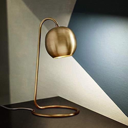 De enige goede kwaliteit decoratie Scandinavische volledige koper tafellamp slaapkamer nachtlampje landelijke retro warm creatieve mode moderne eenvoudige tafellamp 23 * 40cm