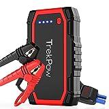 TrekPow A18 Booster Batterie - Jump Starter 800A, Démarreur de Voiture Portable (Jusqu'à 6L Essence / 5L Diesel), Chargeur Démarreur Batterie avec 3 Ports de Charge, Écran LCD, Lampe LED, Certifié CE