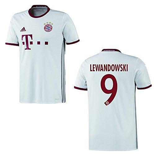 adidas FC Bayern MÜNCHEN Trikot 3rd Herren 2016/2017 - Lewandowski 9, Größe:M
