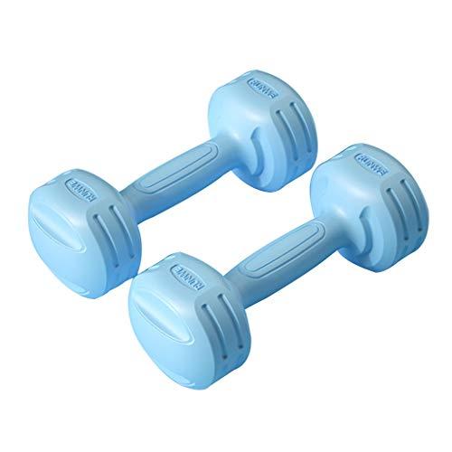 Neopren Hantel Damen Hantel Handgewichte Paar-1Kg/1,5Kg Für Kraftaufbau,Muskelaufbau,Heimgymnastik Und Rehabilitation (Color : Blue, Size : 1kg*2)
