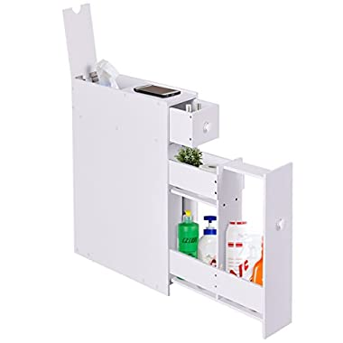 Tangkula Bath Toilet Cabinets Drawers Stand Space Saver Storage Kitchen Bathroom