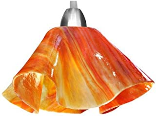 product image for Jezebel Signature Lily Track Lighting Pendant Small. Hardware: Nickel. Glass: Zinnia