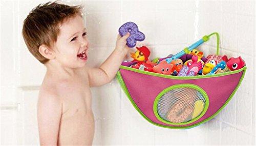 Imagen para BrilliantDay El mejor bolso para el organizador del cuarto de baño, almacenaje superior del juguete de la bañera con 6 tazas de succión resistentes #1