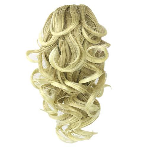 Drawihi Perruque Femme, Perruque Cheveux Nouveau Féminin Bouclés Ondulés Glamour, Queue De Cheval et Perruque Élastique de Peigne(Style 6)