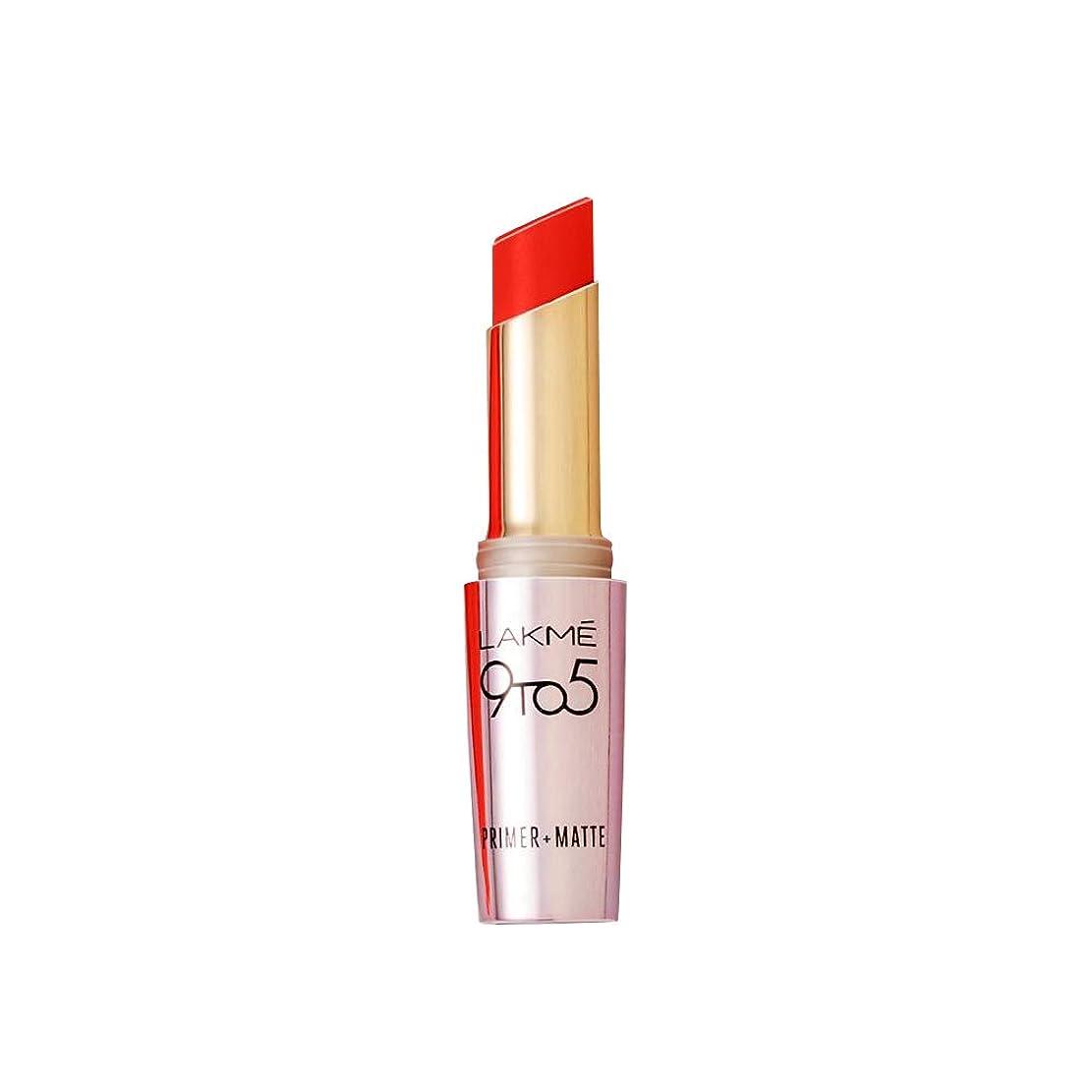 ファランクス本メトリックLakme 9 to 5 Primer with Matte Lip Color, MR8 Orange Edge, 3.6g