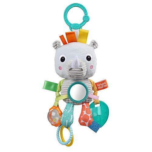 Bright Starts, Peluche de actividades colgante Playful Pals, Rinoceronte, para recién nacidos