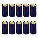 Cabilock 100 Piezas Cápsulas Termocontraíbles Cápsulas de Plástico Retráctil de Vino Botella de Vino Cápsulas Retráctiles Tapón de Botella de Vino para Bodega Hogar 30 Mm (Azul)