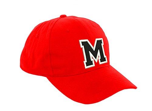 Gorra de béisbol infantil, diseño con letras, unisex, color rojo multicolor M Regular