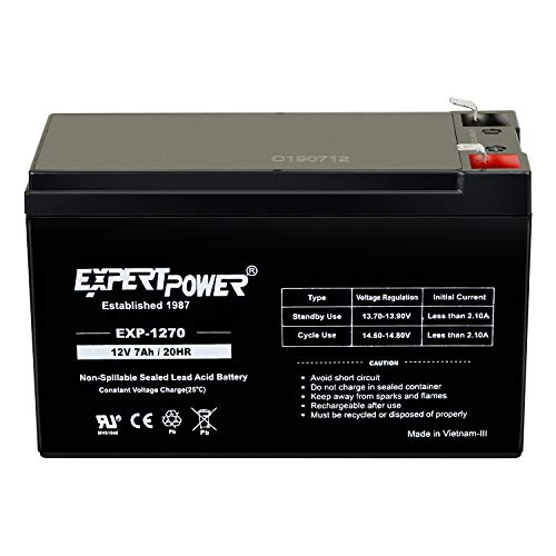 12V 7AH Sealed Lead Acid Rechargeable Battery Used in Security Fire Alarm ExpertPower