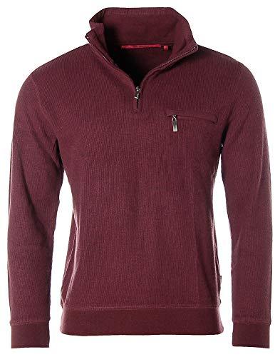 Signum Herren Troyer Pullover Pulli Sweatshirt Bordeaux M
