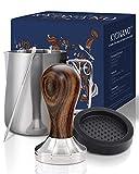 KYONANO Tamper 51 mm, Kaffee Tamper aus Hochwertigem Edelstahl und Chacate Pretoholzgriff, Espresso...