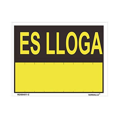 ES LLOGA (PVC 0.4MM) 45X70CM marca NORMALUZ