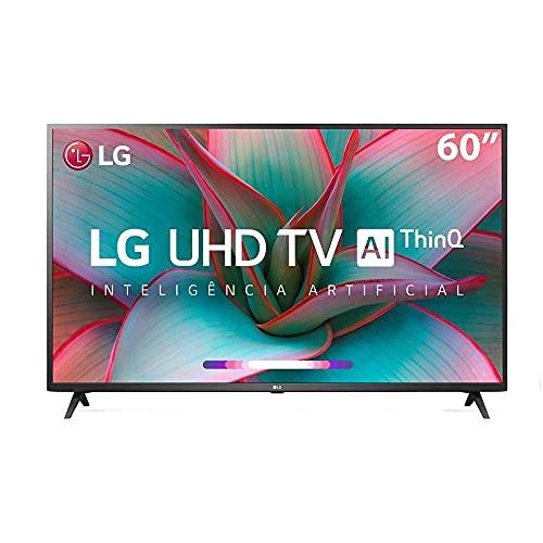 "Smart TV LG 60"" 4K UHD WiFi Bluetooth HDR Inteligência Artificial ThinQ AI Smart Magic Google Assistente Alexa"