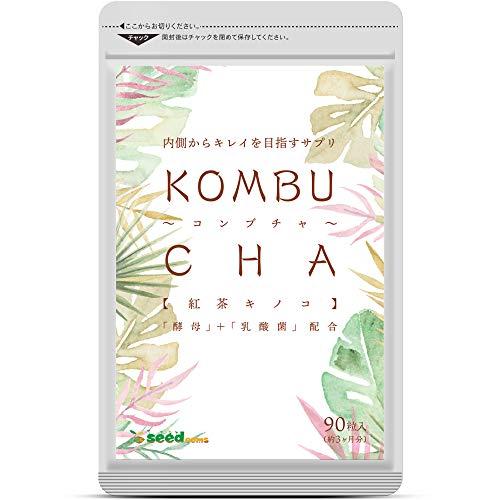 コンブチャ KOMBUCHA サプリメント 約3ヵ月分 90粒 酵素 ダイエット 紅茶キノコ