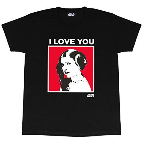 Star Wars Giorno della Principessa Leia I Love You di San Valentino T-Shirt da Uomo Nero M   Idea...