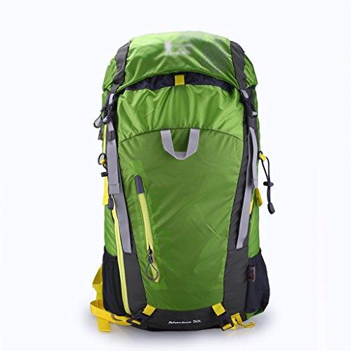 sac à dos randonnée pression professionnelle sac d'alpinisme en plein air grand sac à dos de Voyage de la capacité du matériel sac à bandoulière de sport réduite Sacs à dos de randonnée ( Couleur : Vert , taille : 50L )