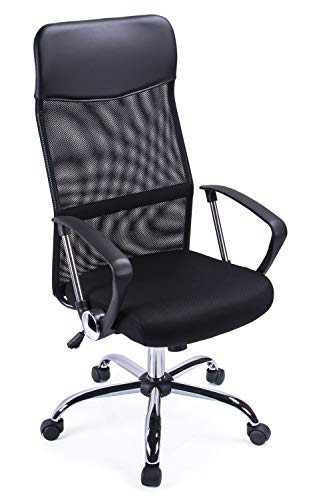 Exofcer High Back Curved Mesh Home Office Stuhl Executive Computer Höhe Verstellbarer drehbarer Bürostuhl