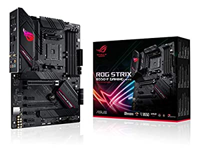 ASUS ROG Strix B550-F Gaming(WI-FI) AMD AM4 Zen 3 Gaming Motherboard and ASUS ROG Strix LC 240 RGB All-in-one Liquid CPU Cooler