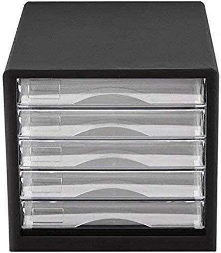 File cabinets Flat Vertical 5 Drawer Plastic Office Storage Storage Cabinet Black -27.7 * 25.9 * 34.4cm Home Office Furniture bookcase