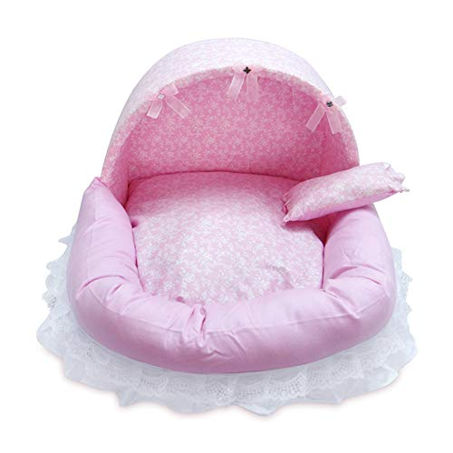 KJUHVBF El algodón ecológico extraíble y lavable es seguro y adecuado para el descanso de las mascotas al aire libre.