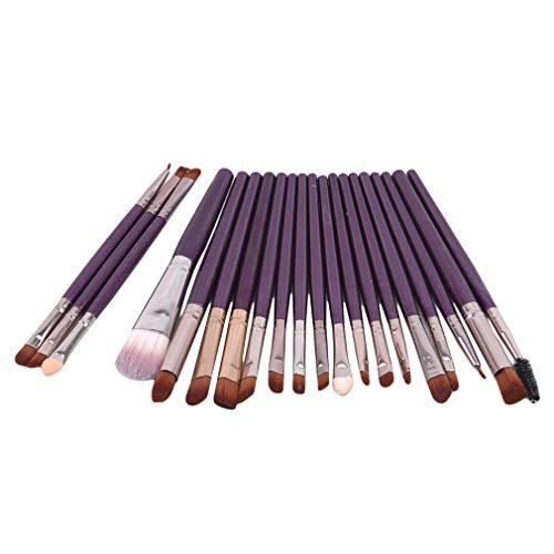 Mvude Ensemble de pinceaux de maquillage pour les yeux 20 pièces sourcils eyeliner fard à paupières mélange pinceaux cosmétiques, ZK violet