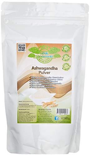 VitaSem Bio Ashwagandha poeder | 100% pure ashwagandhawortel | Indiase Giseng -Ayurveda | Premium kwaliteit, 1 x 500g)