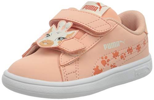 PUMA Unisex Baby Smash V2 Summer Animals V Sneaker, Apricot Blush-Tigerlily, 25 EU