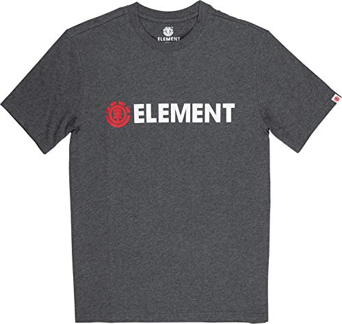 Element Herren Tees Blazin SS, Charcoal Heathe, XL, Q1SSA6