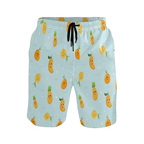 Tropical Lindo Mango De Fruta Amarilla Bañador para Hombre Pantalones Cortos Bañadores Shorts para Hombres Natacion Piscina Surf Playa