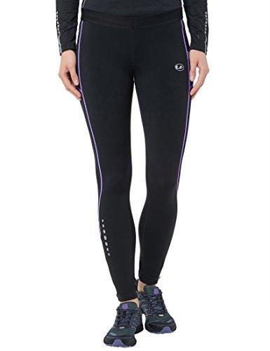 Ultrasport Damen Thermo-Dynamic lang Laufhose, black purple opulence, M