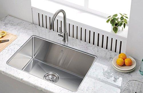 Starstar 23' Kitchen Sink Single Bowl Undermount 304 Stainless Steel