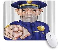 EILANNAマウスパッド 怒っているポインティング警察官 ゲーミング オフィス最適 高級感 おしゃれ 防水 耐久性が良い 滑り止めゴム底 ゲーミングなど適用 用ノートブックコンピュータマウスマット