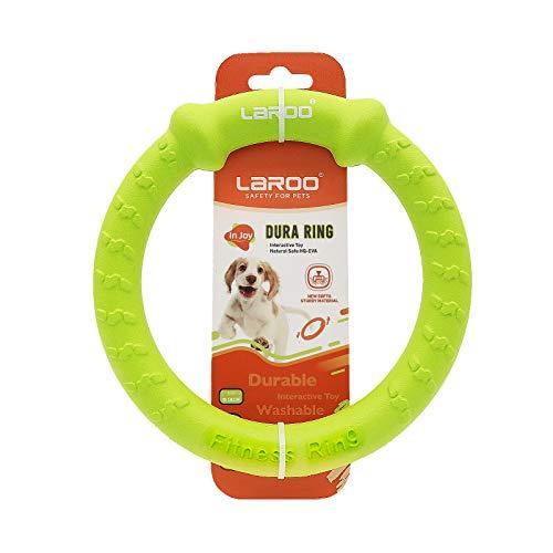 LaRoo Hundefitness-Ring Hundefrisbee, Unzerstörbare Float Hunde Flugscheibe Spielzeug, Sommer Pet Training für Mittelgroße und kleine Hunde (Klein-18CM / 7inch, Grün)