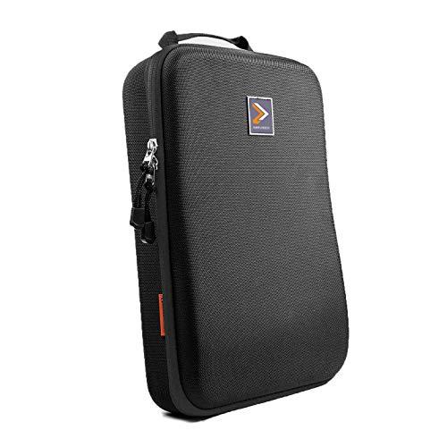 IAMRUNBOX Garment Bag - Funda Porta Camisas, Bolso de Viaje Organizador de Ropa + Plegador Gratis - Doublepack (Negro)