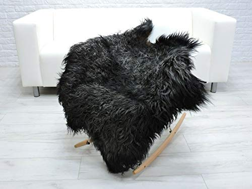 World of Sheepskins Alfombra de piel de oveja auténtica auténtica islandesa rizada mongol sofá silla de piel G313