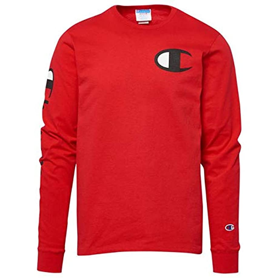 大腿光木曜日(チャンピオン)Champion Heritage Left Chest L/S T-Shirt メンズ Tシャツ [並行輸入品]