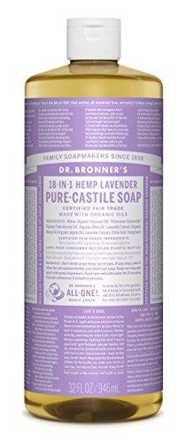 Dr Bronner's Pure-Castille Lavendar Savon Liquide 1000 ml