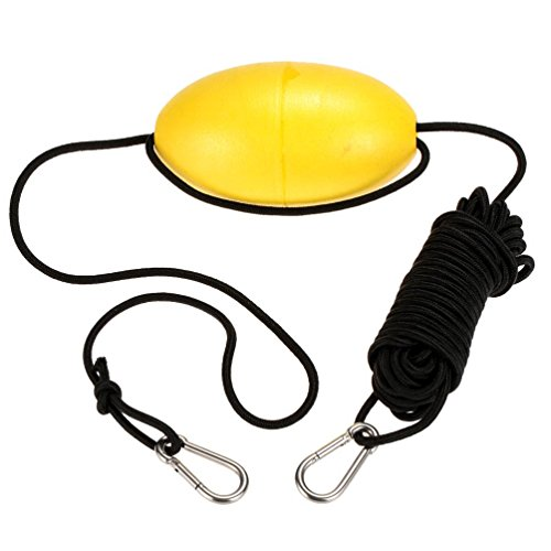 MOOCY 30 ft. Marine Rope Tow Line, Buoy Ball Float Leash & Stainless Steel Hook for Fishing Drift Anchors System