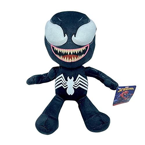 """Marvel, Spiderman Villanos Peluche The Lizard, Doctor Octopus, Carnage, Venom, y Green Goblin - 28-33 CM ( 11-13"""") Licencia Oficial (VENOM)"""