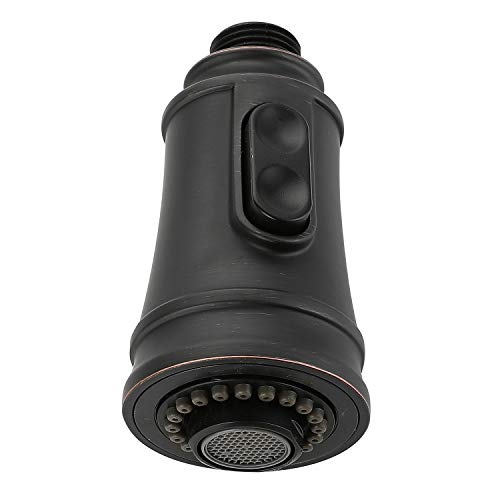 Kitchen Faucet Head, Angle Simple Replacement Sprayer Nozzle, Pull Down Faucet Pull Out Hose Spray Head (oil rubbed bronze)