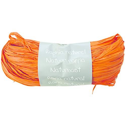 Clairefontaine 196058C Geschenkband (aus Bast natürlich, 50 g, 100 cm, ideal für Ihre Bastelprojekte und Geschenke) 1 Stück orange