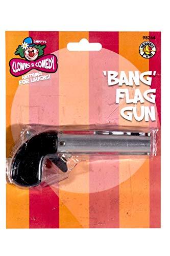 Smiffys Pistolet bang, avec drapeau