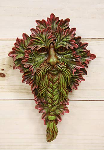 Ebros Nature Spirit God Celtic Myrtle Greenman Hanging Wall Decor Plaque 8.5' High Wiccan Tree of Life Forest Horned God Cernunnos Ent Mythical Fantasy Decorative Sculpture