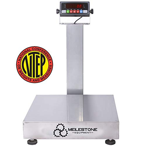 Heavy-Duty Industrial 500x0.01LB 24x24 inches Carbon Steel NTEP Legal for Trade Bench Scale/Shipping Scale/Recycling Scale/Best Postal Scale/Scale for Packages Tabletop
