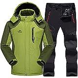 SR-Keistog Chaqueta Forro Polar Snowboard térmica Impermeable para Hombre +...