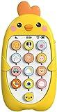 HNZNCY Juguete del teléfono celular de 6 a 12 meses,Juguetes de los teléfonos de fingir para los mejores regalos de cumpleaños, juguete musical (C)