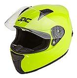 JDC Casco Integral Para Motocicleta Cascosintegrales - PRISM - Amarillo Fluorescente - L