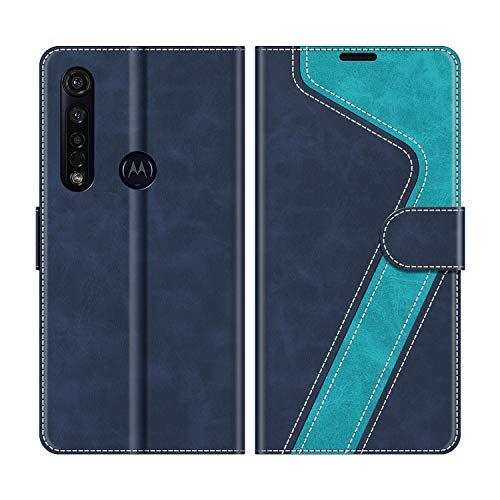 MOBESV Custodia Motorola Moto G8 Plus, Cover a Libro Motorola Moto G8 Plus, Custodia in Pelle Motorola Moto G8 Plus Magnetica Cover per Motorola Moto G8 Plus, Elegante Blu
